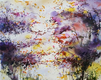Original Watercolor Painting, Watercolour Art 15.25x19.25 inches (39x49 cm)