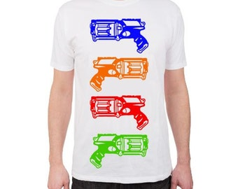 NERF T-Shirt, Youth T-Shirt, NERF Gun T-Shirt, Dart Gun T-Shirt, Nerf Birthday Party, NERF Party, Blue, Orange, Red, Green