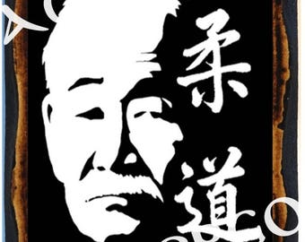 Jigoro Kano - Kanō Jigorō 嘉納 治五郎 martial artist and the founder of Judo - Japanese martial art Wood Icon Plaque