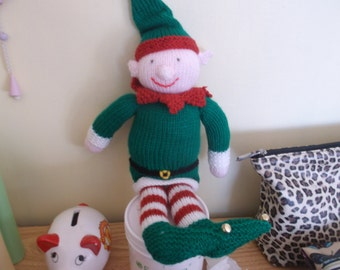 knitted xmas elves