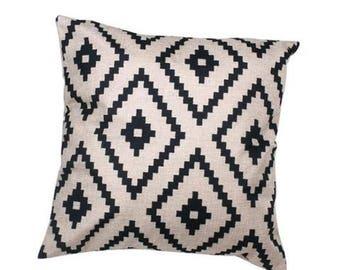 Black Argyle Pillow Cover
