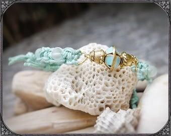Turquoise-gold coloured Boho Bracelet