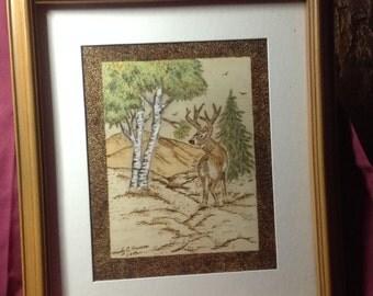 Woodburning deer