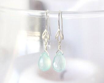 Chalcedony Iris Earrings
