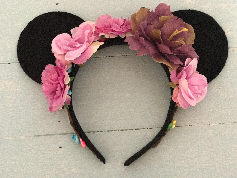 disney headband mickey ears floral headband floral