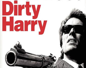 """DIRTY HARRY Clint Eastwood,  11""""x17"""" Movie Poster Print."""