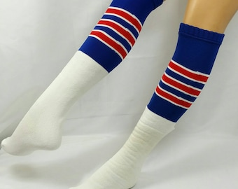 Vintage Twin City's Over The Calf Athletic Striped Tube Sock NOS Super Long Comfy One Size Fits All