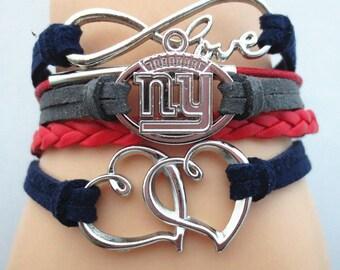 New York Giants Love Friendship Charm Bracelet