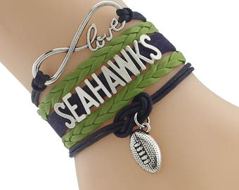 Seattle Seahawks Love Friendship Charm Bracelet