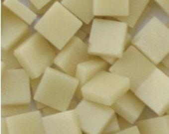 12mm Square Mosaic Tiles - Cream Matte - 50g