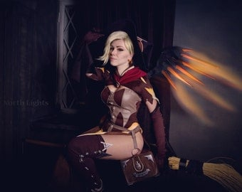 Mercy Witch Overwatch Halloween Legendary Skin cosplay custom order handmade cosplay game cosplay costumes custom