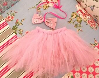 Puppy/Small dog princess tutu & handmade bow