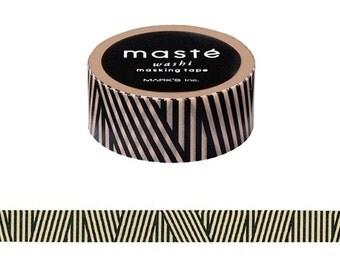 Multi Stripe washi, Black stripes tape, Mark's Japan, Scrapbook tape, Adhesive tape, Gift Wrapping, Paper craft