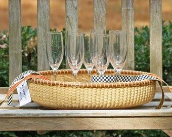 18-inch oval Nantucket Style basket tray