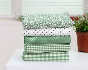 """Pastel Color Green Series 20s Cotton Fabric - 44""""x35"""" - 1 Yard"""