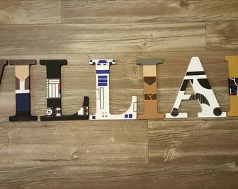 Star Wars Wall Letters/ Nursery Letters