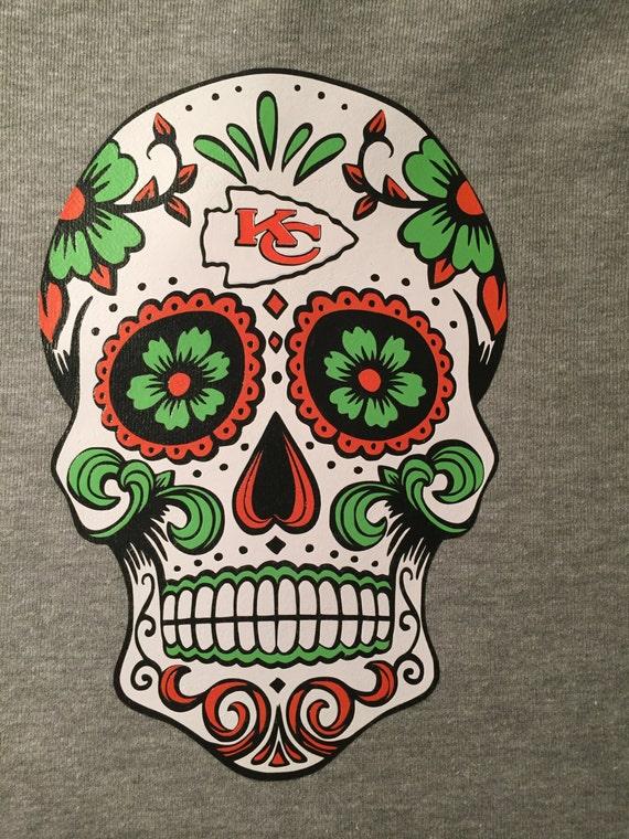 Kansas City Chiefs Sugar Skull T Shirt My Sugar Skulls