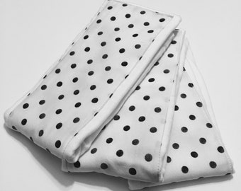 Black Polka Dot Burp Cloth - Cloth Diaper Burp Cloth - Baby Essential - Baby Shower Gift
