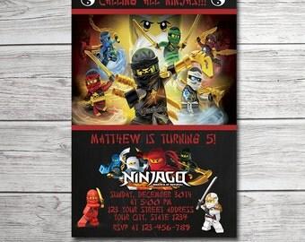 Ninjago Invitation, Ninjago Birthday Party, Ninjago Party Invitation, Nonjago Birthday Invitation, Ninja Party, Ninja Invitation
