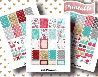 DELUXE CHRISTMAS STICKERS for use with Erin Condren Life Planner, Printable Stickers, Instant Download – Grand Opening Sale