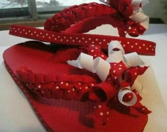 Red polkadot military brade straps