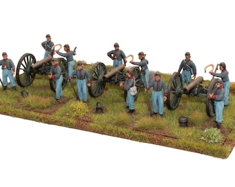 Painted Perry Miniatures American Civil War Confederate 3 Gun Battery