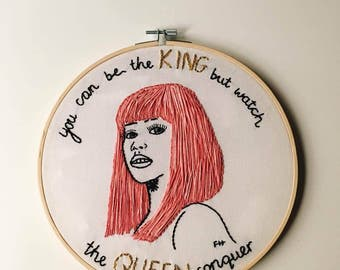 Nicki Minaj Monster Embroidery Hoop