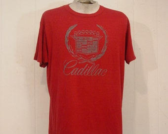 Vintage T-shirts, 80s, vintage clothing, graphic t shirt, vintage, Cadillac t-shirt, automobile, 1980s shirt, XL