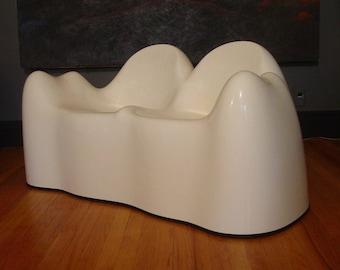 Vintage 1960s Molar settee, Wendell Castle, vintage sofa, white fiberglass, mid century modern, vintage furniture, mod couch, molar sofa