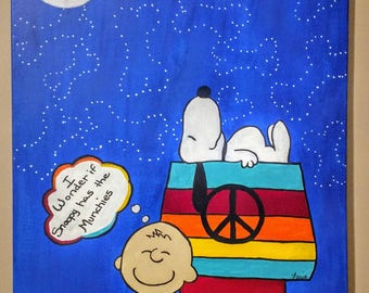 Hippie Snoopy Painting