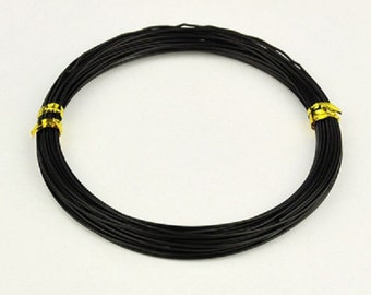 Aluminum wire 1mm black 10m