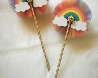 NEW rainbow wands- costume wands/ rainbow cloud wands
