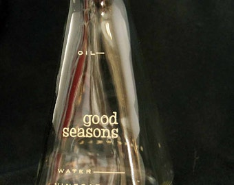 Good Seasons Cruet Bottle, Oil and Vinegar Bottle, Retro Kitchen Cruet