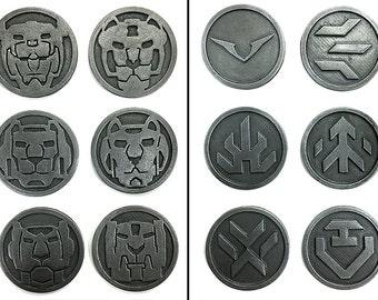 Metallic Voltron Challenge Coins
