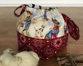 Small Project Knitting Bag- Giddy Up