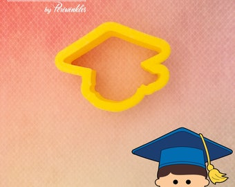 Grad Mike - Beki - Graduation - Prom - Cookie Cutter - Cookies - Decorated Cookies - Periwinkles - Gift - Cutter - 3D Print - Made with love