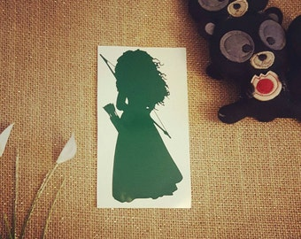 Brave Decal Brave Car Decal Merida Sticker Merida Decal Disney Sticker Disney Decal Disney Car Decal Disney Sticker Disney Princess