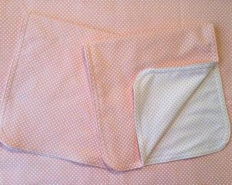 Dots Reversible Baby Blanket & Burp Cloth Set