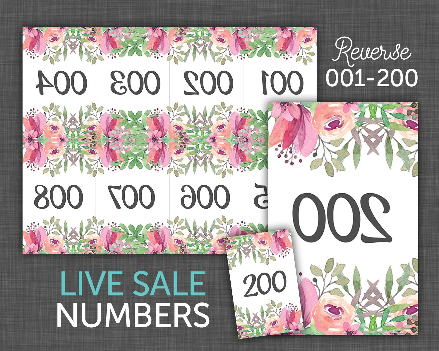 Dramatic image intended for free printable live sale numbers