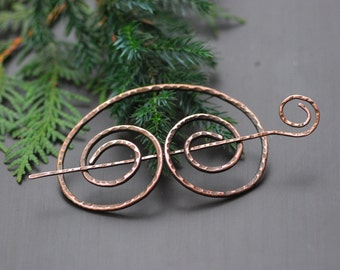 Ready to ship Copper Barrette Hair Clip Hair Pin Metal hair barrette  Hair Stick Barrette Rustic copper hair slide Long Hair Toy Scarf Clip