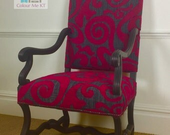Cerise Pink Arm Chair