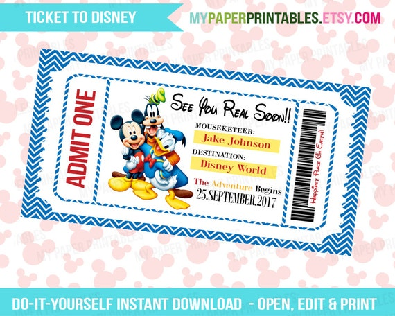 Tactueux image inside printable disney tickets