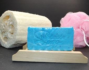 Handmade Cotton Blossom - Oatmeal & Shea Butter Bar Soap, Homemade, Artisan