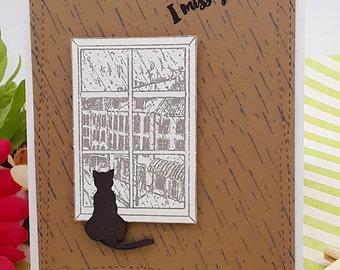 handmade miss you card