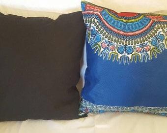 Royal Blue Dashiki pillows set