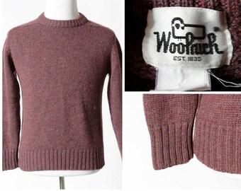 Vintage Woolrich Sweater Wool - 70's Retro Men's Medium M Women's Large