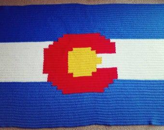 Colorado State Flag Graphghan