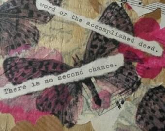 Positive quote wall Art English literature Daphne Du Maurier My Cousin Rachel butterflies pallet art  pink music