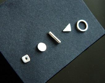 Sterling Silver Earrings -  Geometric