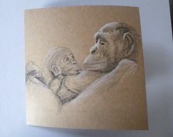original Chimp drawing